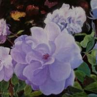 Fleurs sauvages / huile - 33x 27cm